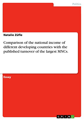 Comparison of the national income of different developing countries with the published turnover of the largest MNCs. (English Edition)