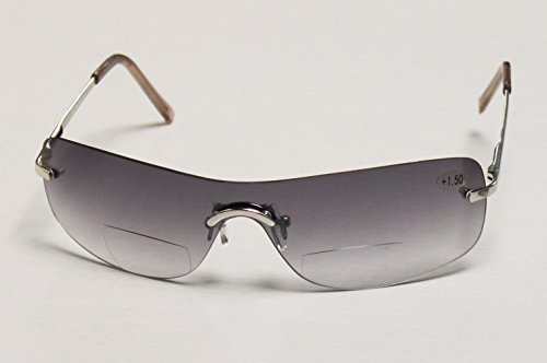 argus Bifokale Sonnenbrille, Sonnenbrille mit Leseteil +1,5 +2,0 +2,5 dpt (+1,5 dpt. silber)