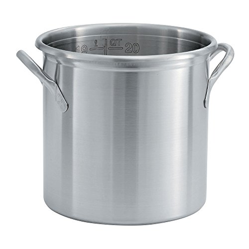 Vollrath 77610 Stock Pot, 20 Qt. with Out Cover, Tri-Ply Stainless, 12