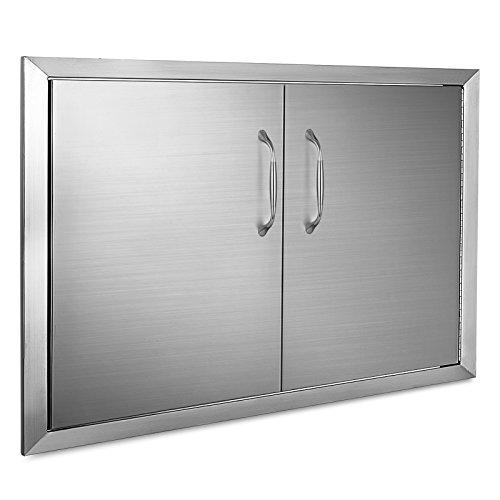 Mophorn Tür, für den Außenbereich, 86,4 x 48,3 cm, doppelwandige Konstruktion, Edelstahl, Unterputzmontage für Grillinsel, 86,4 x 48,3 cm -