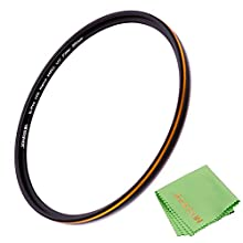 JONGSUN 86mm UV Filter, S-Pro HD Nano MRC16 Camera Ultraviolet Protection Filter, 16 Layers Multicoated, SCHOTT B270, Ultra-Slim, Lens Cloth Kit
