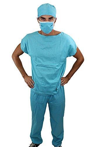 dressmeup Dress ME UP - K45/52 Dr. Med. Sexy Herrenkostüm Kostüm Scrub Doktor Arzt Chirurg OP-Kittel Gr. 52, L