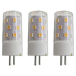 3x Stück - G6.35/ GX6.35 LED 5 Watt warmweiß 2800K A++ 12V~ AC/DC Wechselspannung 360° Stiftsockel Leuchtmittel Lampensockel Spot Halogenersatz Halogen Lampe nicht dimmbar (G6.35/ GX6.35)