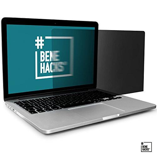 #benehacks® Sichtschutz für Laptop - Blickschutzfolie - Privacy Filter Monitor - Anti spy Screen - 15' Display MacBook Pro (Bildschirmgröße 344 x 223 mm)
