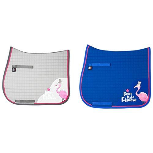 PFIFF Schabracke Fabulous Flamingo blau Warmblut Vielseitigkeit