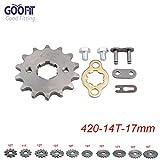 GOOFIT 420 14 T 17mm dents moto Pignon moteur Pignons coniques de chaîne Engine For 50cc 70cc 90cc 110cc Motorcycle Dirt Bike ATV Quad