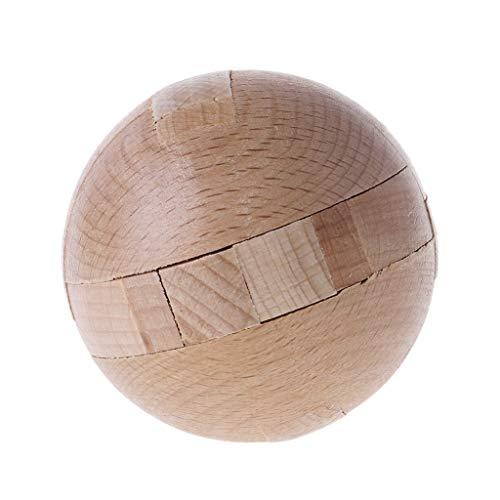 (JAGENIE Holzpuzzle Magischer Ball Intelligenz Spiel Gehirn Teasers Spielzeug Erwachsene Kinder Spielzeug Weihnachten Jahr Geschenk 1 Stück, zufällige Lieferung)
