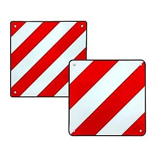 2in1 Warntafeln Warntafel reflektierend für Italien und Spanien 50x50cm rot-weiß