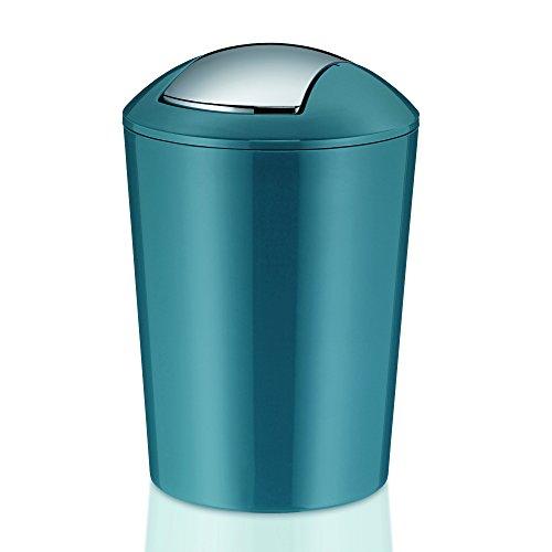 Kela Schwingdeckeleimer Marta Kunststoff, petrol, 29,0 cm 19,5 cm Ø 5,0 l