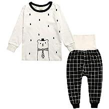 Chickwing Conjuntos de Pijama para Bebés Niños Niña, Unisex Manga Larga Top Pantalones de Cintura