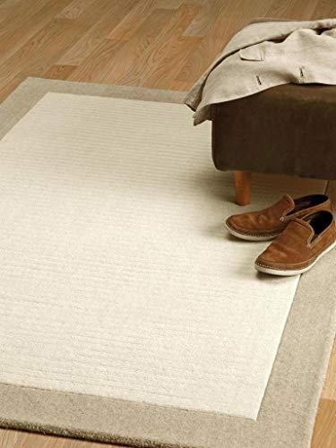 Benuta Naturfaserteppich für Wohnzimmer und Schlafzimmer Alfombra, Lana, Blanco, 120 x 170 cm