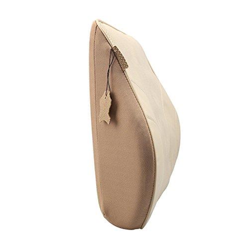 Schiebe-quadrat (Koyoso Orthopädisches Rücken-Kissen Lordosenstütze Lendenkissen für Auto Beige)