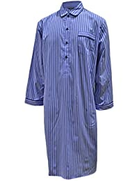Lloyd Attree & Smith Men's Luxury Cotton Nightshirt - Blue Stripe
