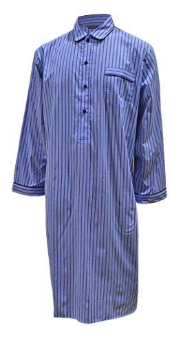 Chemise de nuit 100% coton à rayures homme (L)