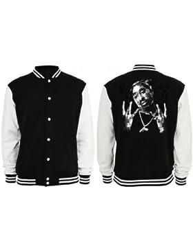 Tupac Westside College Vest Negro