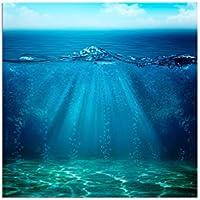 80x 80cm–stampa fotografica su tela e telaio mare acqua Grund baldacchino sfondo–tela su telaio elegante (Mare Su Tela)