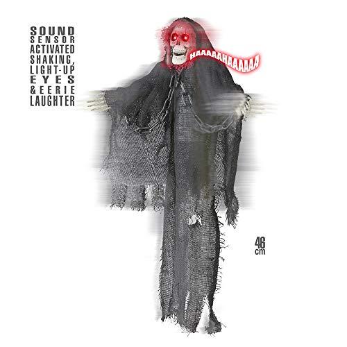 WIDMANN vd-wdm01390Grim Reaper animado Tremante con ojos luminosos, Gris, talla única
