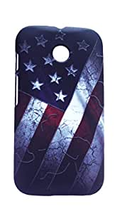 "Case Creation Printed Radium Dark "" Night Glow "" 3D Touch Feel Hard Back Case Guard For Moto E (1St Gen)"