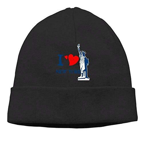 I Love New York Beanies Hat Winter Skull Knit Cap Adult