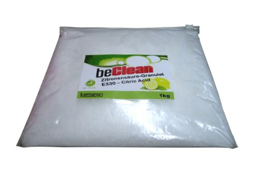 beClean Entkalker Zitronensäure-Granulat E-330 - Citric Acid 1kg im Btl.