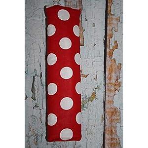 Auto Gurtpolster für Kinder und Erwachsene rot mit weißen Punkten Dots Tupfen