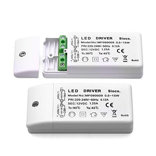 Transformador electrónico para lámparas LED / 12V DC 0,5-15 vatios / Fuentes...