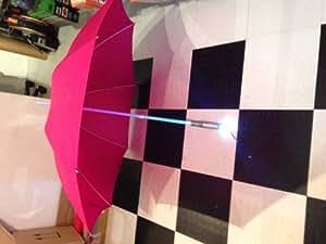 Roter Regenschirm mit LED Multi Color Chan Pole Und Torch unten stilvoller kühler