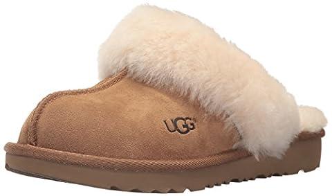 UGG Girls' K Cozy II Slipper, Chestnut, 6 M US Big Kid