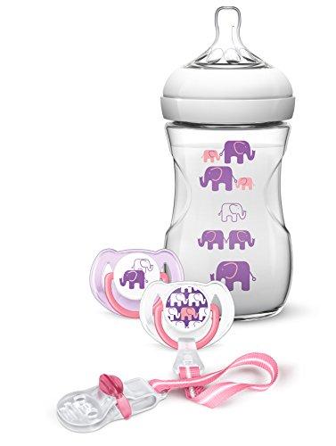 Preisvergleich Produktbild Philips Avent SCD628 / 01 Naturnah-Flaschen-Set,  lila