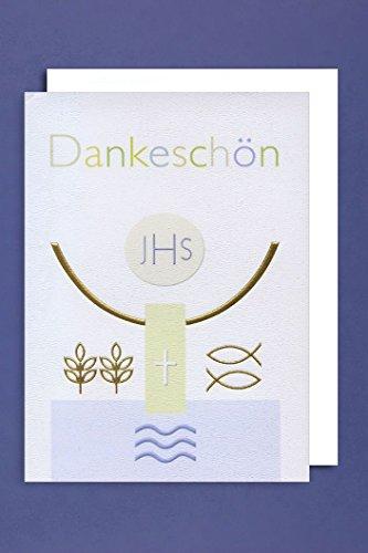Kommunion Danksagungen Karte 5er Set JHS Symbole 5 Grußkarten C6 neu 2018