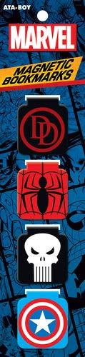 Ata-Boy Marvel Comics - Set 4 marcadores magnéticos