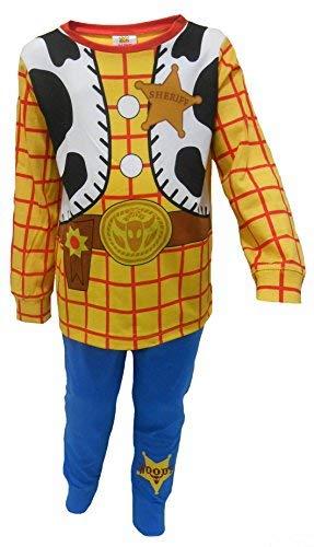 Niños Toy Story Buzz Lightyear o Woody Vestir Pijamas 18-24m 2-3y 3-4y 4-5y 5-6y (2-3 años, Woody)