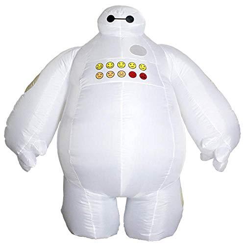 6 Kinder Big Hero Kostüm - AA Purim Halloween Aufblasbare kostüm Big Hero 6 Baymax Party Cosplay kostüm for männer frauen erwachsene baymax Maskottchen Kostüm SD (Color : Onecolor, Size : Onesize)