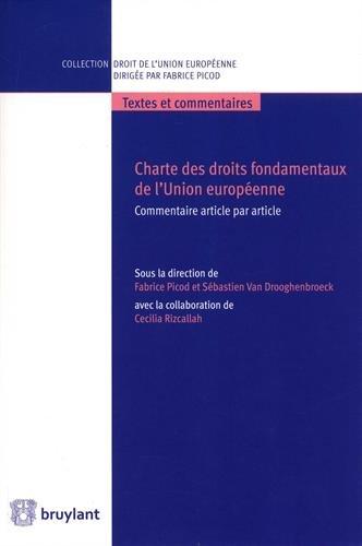 Charte des droits fondamentaux de l'Union europenne: Commentaire article par article