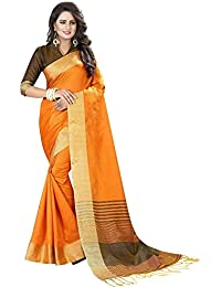 Ecolors Fab Women`s Cotton Silk Saree With Blouse Piece