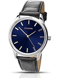 SEKONDA 1125 - Reloj de cuarzo para hombres, color negro