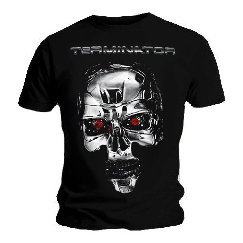 Official T Shirt Terminator Endoskeleton Skull T-shirt, M, XL