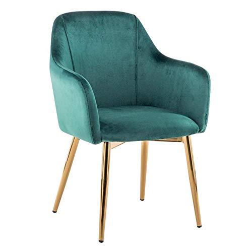 HFJKD Esszimmerstuhl gepolsterte Rückenlehne Sessel Moderne Möbel Sofa Stuhl Metallbeine Wohnzimmer Kaffee-Stuhls (Farbe: Grau)