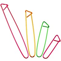 12 Piezas Soporte de Punto de Costura de Aluminio Set de Imperdibles, 4 Tamaños, Colores Variados