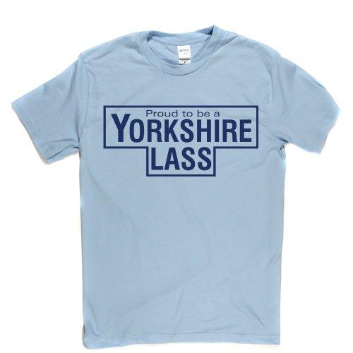 Yorkshire Lass UK England Proud Tee T-shirt Himmelblau