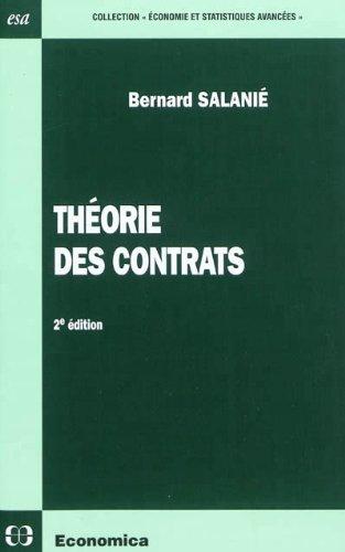 Théorie des contrats par Bernard Salanié