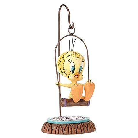 Enesco 4049383 Looney Tunes Objet de Décoration Titi sur Balançoire Résine Multicolore 1 x 1 x 1 cm