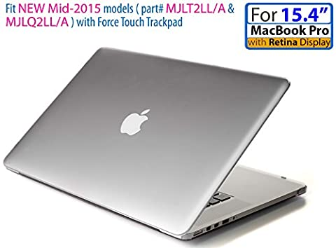 mCover hochwertigem Polycarbonat Hülle Schutzhülle Notebooktasche Hard - Shell - Case Tasche für Apple Macbbok Pro 15,4 Zoll Retina Display (Modell A1398, ohne DVD) - Gefrostet (15 Macbook Pro Mit Retina Display Test)