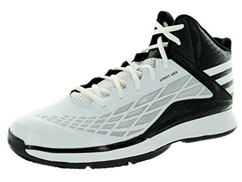 Adidas Transcend Mens Basketball Shoe 4 Blanc-noir Ftwwht/Ftwwht/Cblack