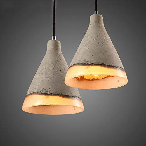 Hxyt lampadario moderno minimalista con tubo di cemento, paralume rotondo monotesta/adatto per arredo soggiorno camera da letto (e27)