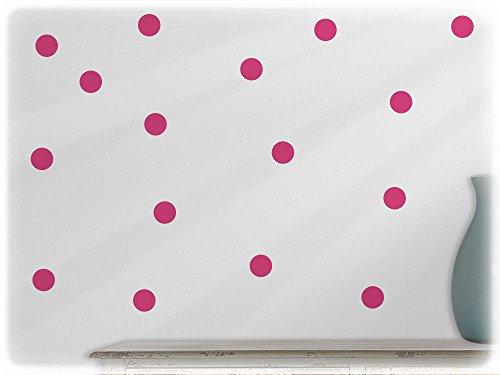 wandfabrik - Wandtattoo - 54 tolle Polka dots in pink