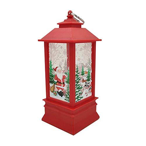 KOBWA LED-Laterne für Weihnachten, warmweiß, flackernd, Schneekugel zum Aufhängen, batteriebetrieben, für Weihnachten, Partys und Dekorationen rot (Frozen Für Dekorationen Partys)