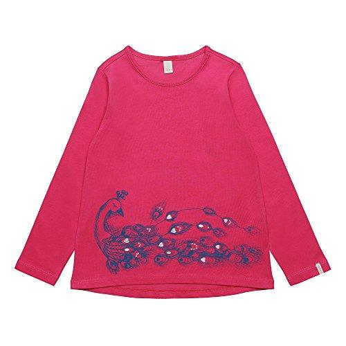 ESPRIT Mädchen Langarmshirt RK10213, Rosa (Tropical Pink 352), 128 (Herstellergröße: 128+)