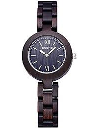 JIANGYUYAN de madera reloj mujer madera reloj esfera pequeña Simple reloj de pulsera para mujer