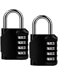 ISIYINER Candados Combinación,Candado de Seguridad Combinaciones de 4 Dígitos para Gimnasio Maleta Caja de